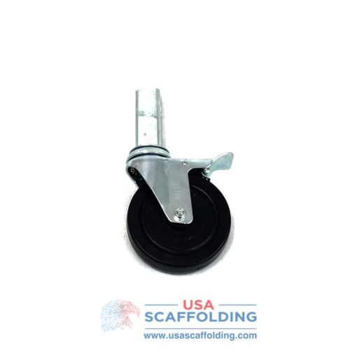 "5"" Locking Caster with 1-1/4"" Square Stem for Multipurpose Scaffolding"