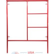 "Double Ladder Scaffolding Frame - 5'X6'7"" red Waco style"