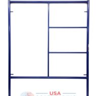 "Double Ladder Scaffolding Frame - 5'X6'4"" blue safway style"