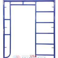 "Ladder/Walk Thru Scaffolding Frame - 5'X6'4"" blue safeway style"