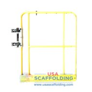 "42"" Expandable Access Gate with toe board (yellow) for scaffolding"