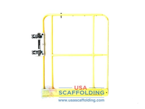 """42"""" Expandable Access Gate with toe board (yellow) for scaffolding"""