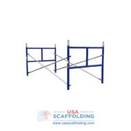 "set of single ladder half high scaffolding frames - 42""X3' blue safeway style"