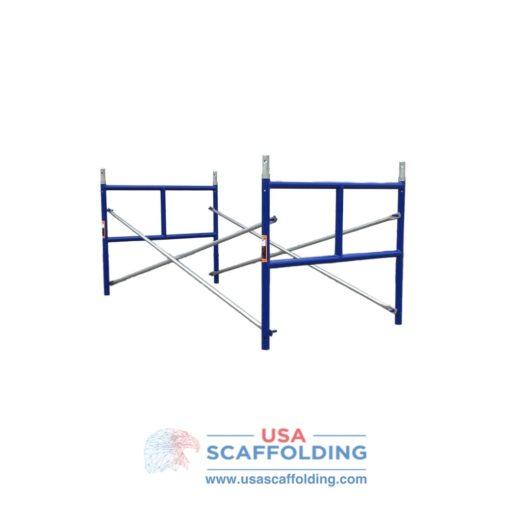 """set of single ladder half high scaffolding frames - 42""""X3' blue safeway style"""