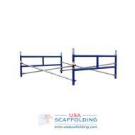 Set of Single Ladder Scaffolding Frames - 2'X5' blue safweway style