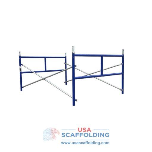 Set of Single Ladder Scaffolding Frames - 5'X3' blue safeway style