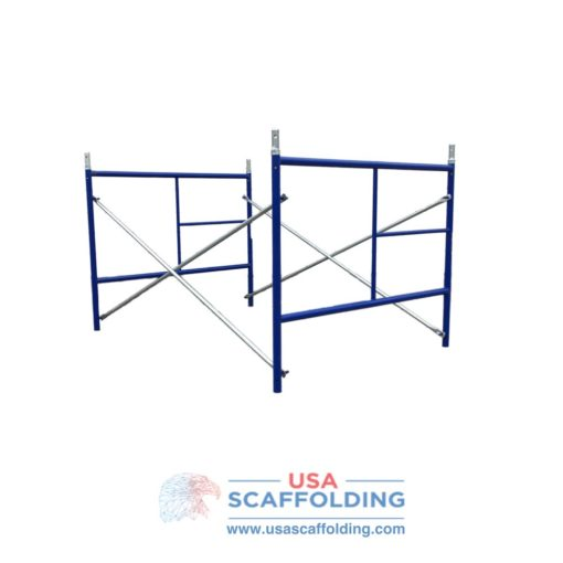 Set of Single Ladder Scaffolding Frames - 4'X5' blue safeway style
