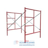 Set of Double Ladder Scaffolding Frames - red Waco Style 5'X6'7""