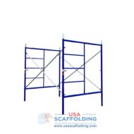 "Set of Double Ladder Scaffolding frames - 5'X6'4"" blue safeway style"