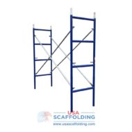 "Blue Safeway style set of ladder scaffolding frames (2'X6'4"")"