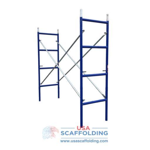 "Blue Safeway style set of ladder scaffolding frames (2'X6'4"")"