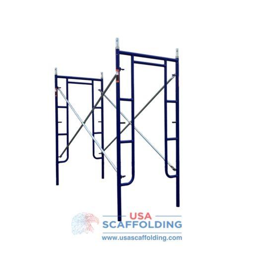 """Blue Safeway style set of walk through scaffolding frames (42""""X6'4"""")"""