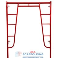"Red Waco Style Walk Thru Frame 5' X 6'7"" with candy cane lock"