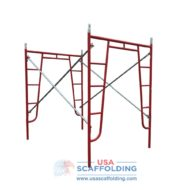 "Red Waco Style Walk Thru Frame Set (5'X6'7"")"