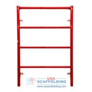 Red shoring frame 4' wide by 6' tall with candy cane lock system