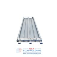Aluminum Scaffold Plank - Bottom View. Aluminum decks and planks for sale at USA Scaffolding. Home to all your scaffolding needs.