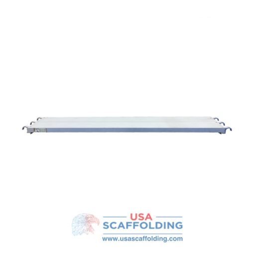 Aluminum Scaffold Plank - Side View. Scaffolding planks for sale at USA Scaffolding.